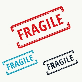 Fragile, rubber stamp