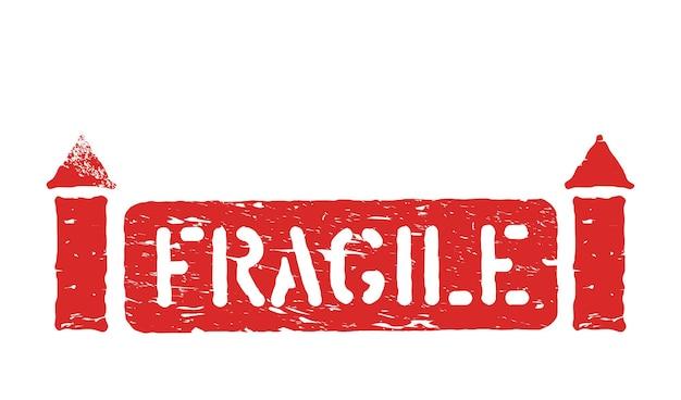 Хрупкий, таким образом изолированный гранж резиновый знак коробки с чернилами для грузов, доставки и логистики