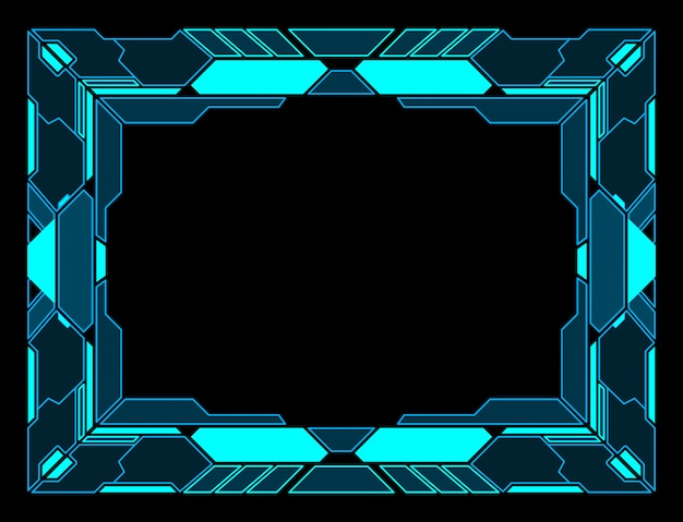 Frame abstract technology future interface hud  design.