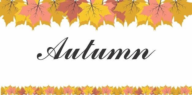 Frame autumn background