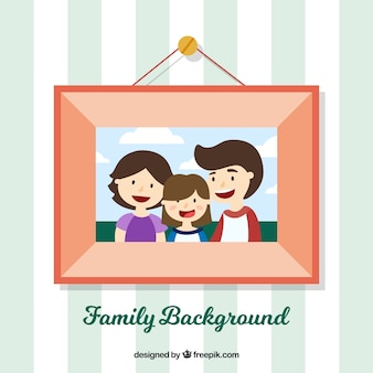 Frame background with family photo