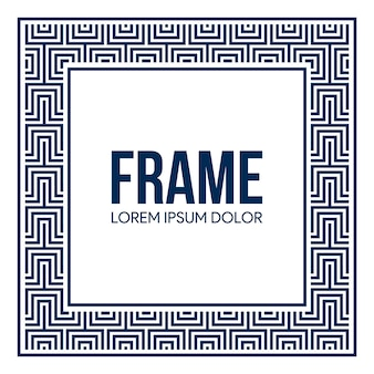 Frame background with square pattern