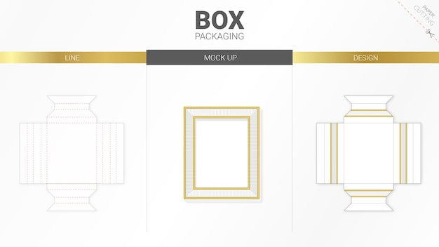 Frame box packaging and die cut template