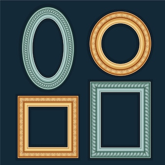 Frame collection in vintage style