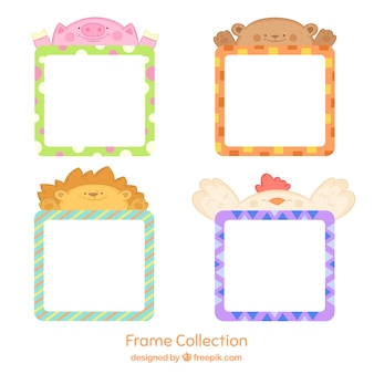 Frame collection with lovely animals