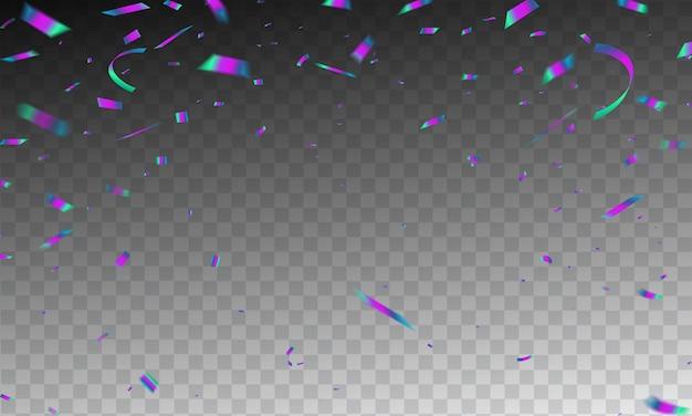 Frame confetti celebration carnival ribbons.