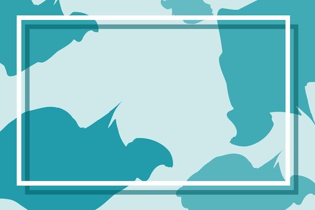 블루 색상의 프레임 디자인