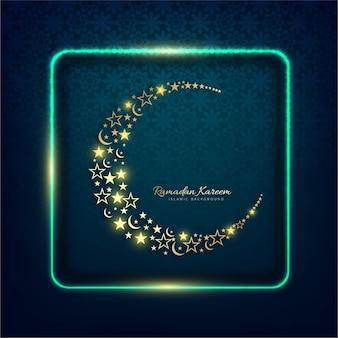 Рамадан карим блестящий фон