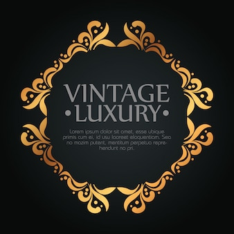 Frame design with ornament style for luxury label, text template