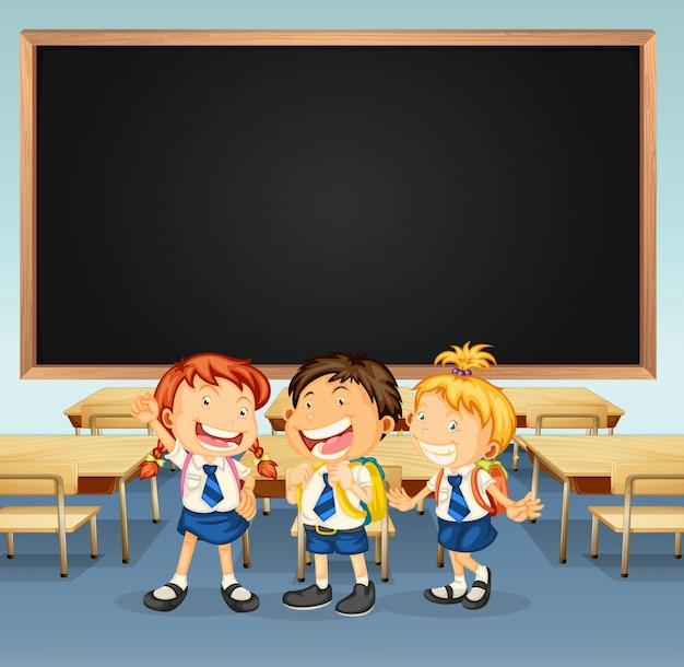 3人の教室でのフレームデザイン