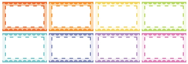 Frame designs in different colors Free Vector