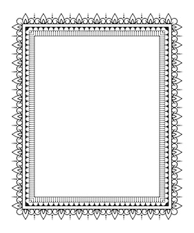 Frame in eastern tradition. stylized with henna tattoos decorative pattern for decorating covers for book