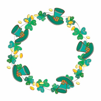 Frame festive wreath for st. patrick's day.