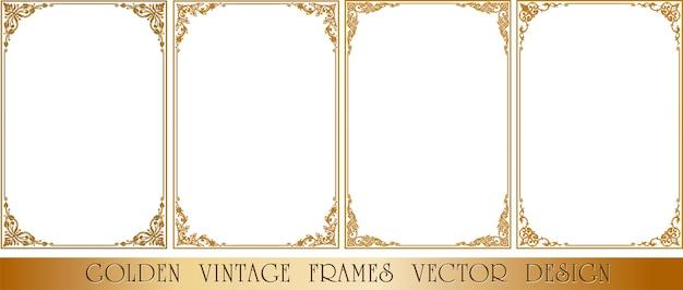 Frame floral border template
