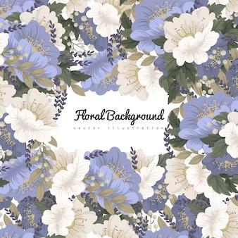 フレームの花の背景