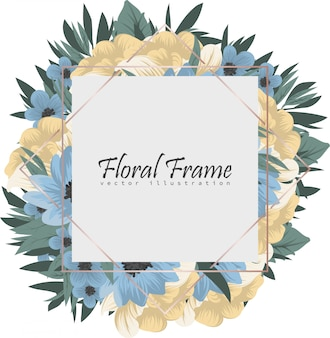 Frame of flowers background