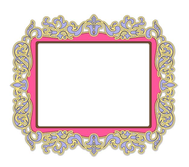 섬세한 분홍색의 그림 또는 그림 프레임