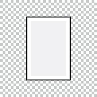 透明な背景で隔離のテキストや写真のフレーム