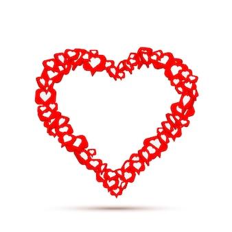 Frame heart fly like social network. white background. vector illustration