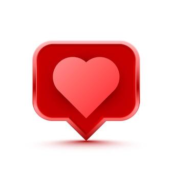 Frame heart like social network. white background. vector illustration