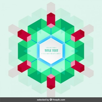Frame in kaleidoscope style
