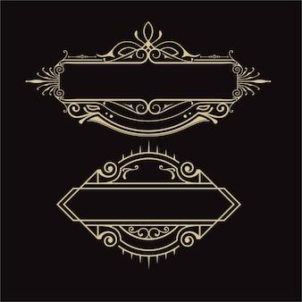 빈티지 복고 스타일의 프레임 럭셔리 브랜드 디자인