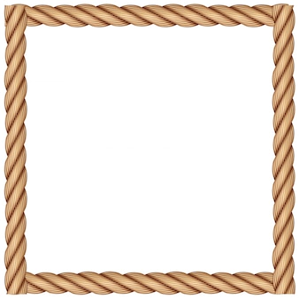 A frame made of rope