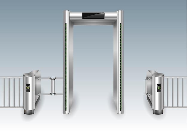 Frame metal detector portal