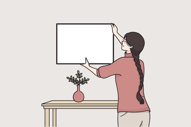 Рамка, макет, концепция декоративных элементов интерьера