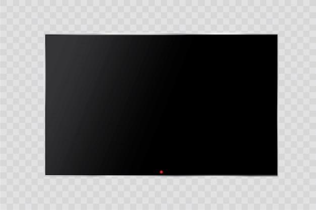 Кадр из телевизора. пустой светодиодный монитор компьютера или черная рамка для фотографий, изолированных на прозрачном фоне. жк-дисплей с пустым экраном, плазменная панель, панель или телевизор для вашего дизайна