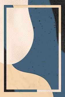 Рамка на синем и бежевом фоне