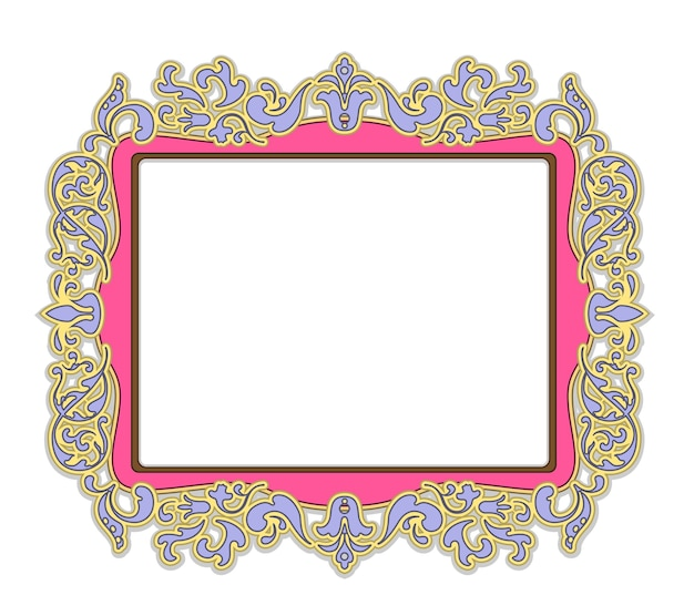 Frame for painting or picture in delicate pink