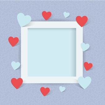 Frame photo with heart sign