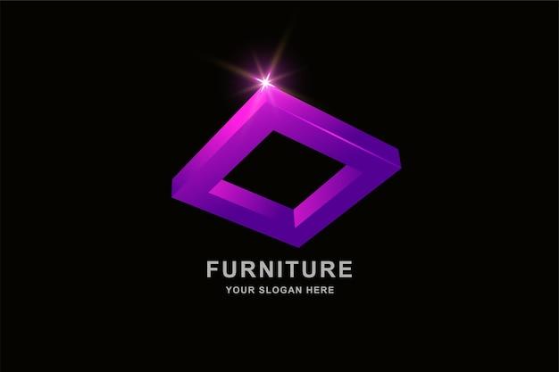 프레임 사각형 로고 디자인 서식 파일