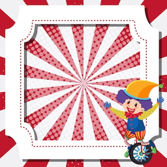 Frame template design with circus clown