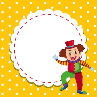 Frame template design with happy clown