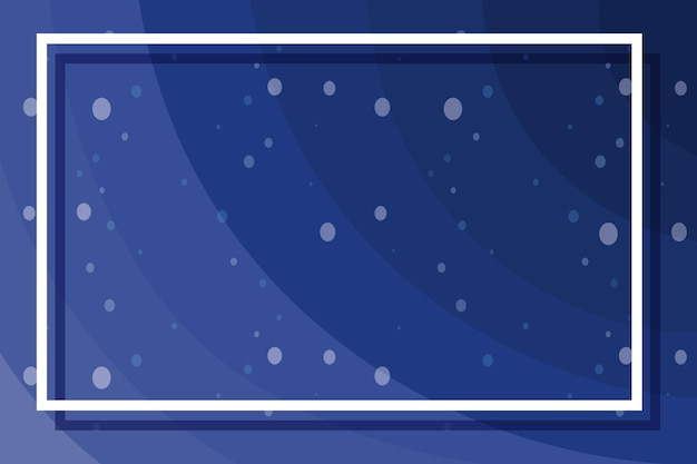 Frame template with bubbles on blue