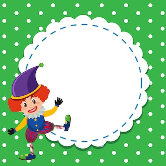 Frame template  with circus clown