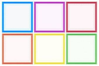 Frame template with colorful borders