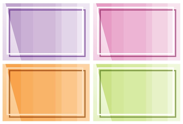 Frame template with different color backgrounds