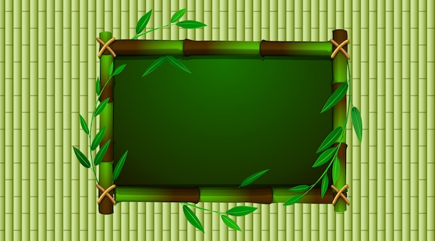 Frame template with green babmoo