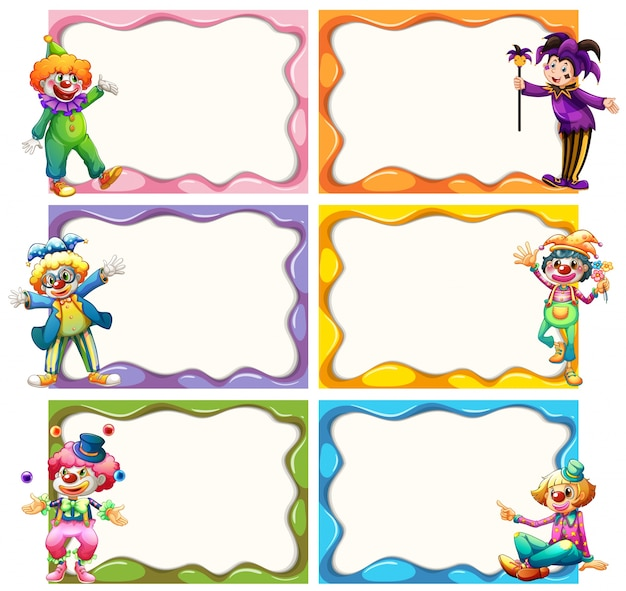 Frame template with jesters