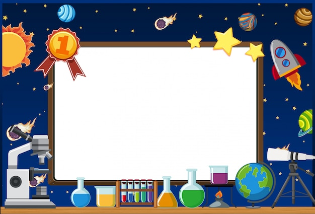 Frame template with space theme