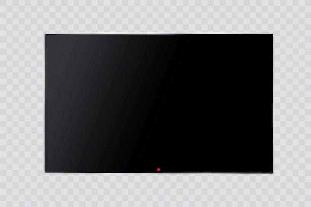 Frame of tv. empty led monitor of computer or black photo frame isolated on a transparent background. blank screen lcd, plasma, panel or tv for your design