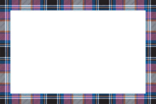 프레임 벡터. 스코틀랜드 국경 패턴 복고 스타일. 타탄 체크 무늬 테두리.