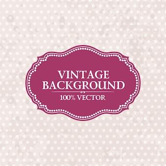 Frame on vintage dots background pink grunge wallpaper with retro spots