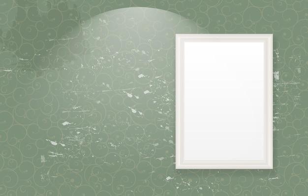 Frame on vintage retro background vector illustration