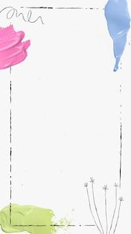 フレームの壁紙の背景ベクトル、水彩ボーダーデザイン