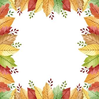 Рамка с осенними листьями и ветками