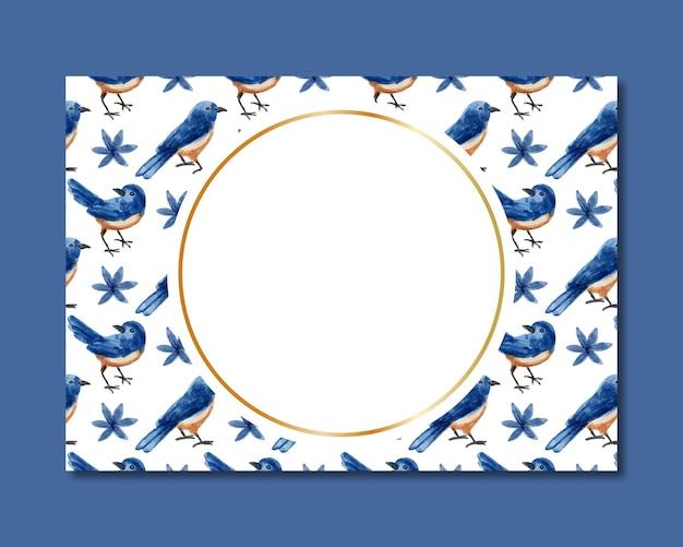 새 수채화 원활한 패턴 프레임